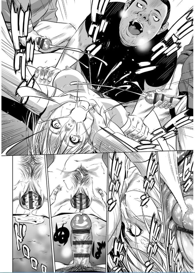 【エロ漫画】電車内で彼氏と電話で大声で喋るキャバ嬢!痴漢軍団がお仕置き!痴漢輪姦エロ漫画本!【さいこ】