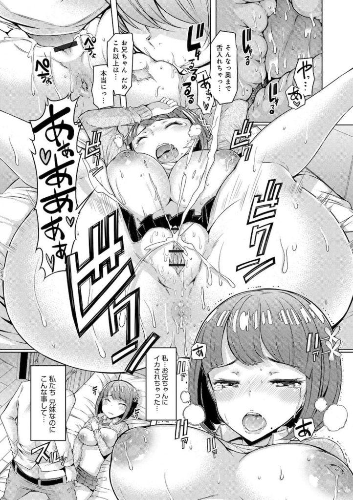【全3話エロ漫画・前編】俺が好きなのは童顔巨乳JKの妹だ!陥没乳首の妹だ!近親相姦を断りきれない妹だ!【EBA】