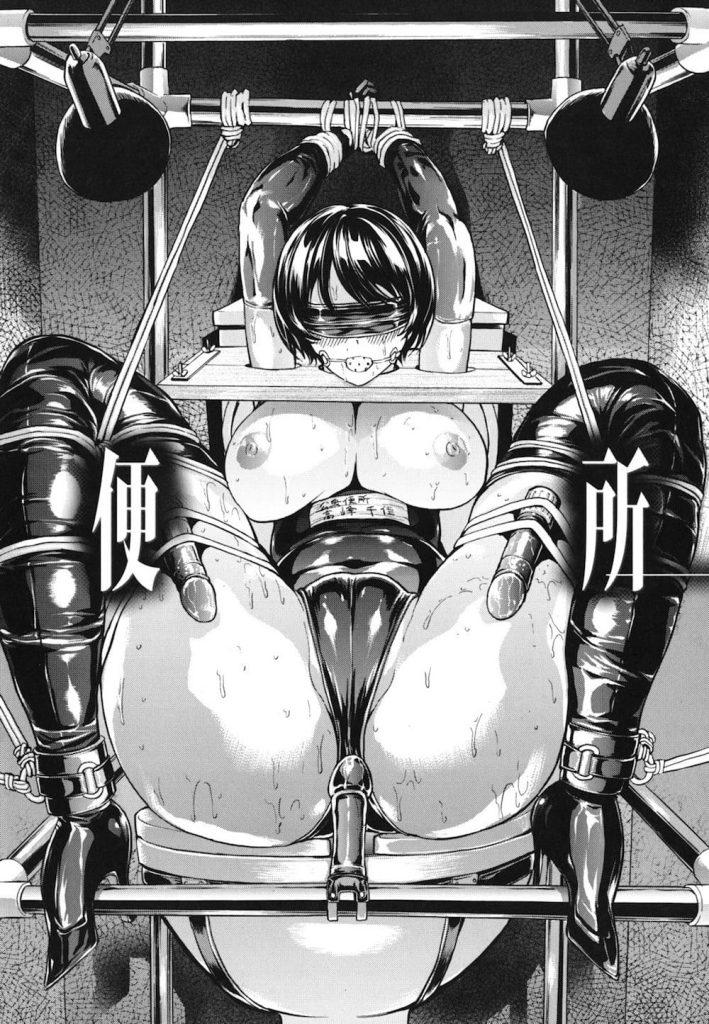 【長編・第6話】公開便所!奴隷肉便器となった女子高生!電気責めにマンコフィストに尻尾バイブ!【墓場】
