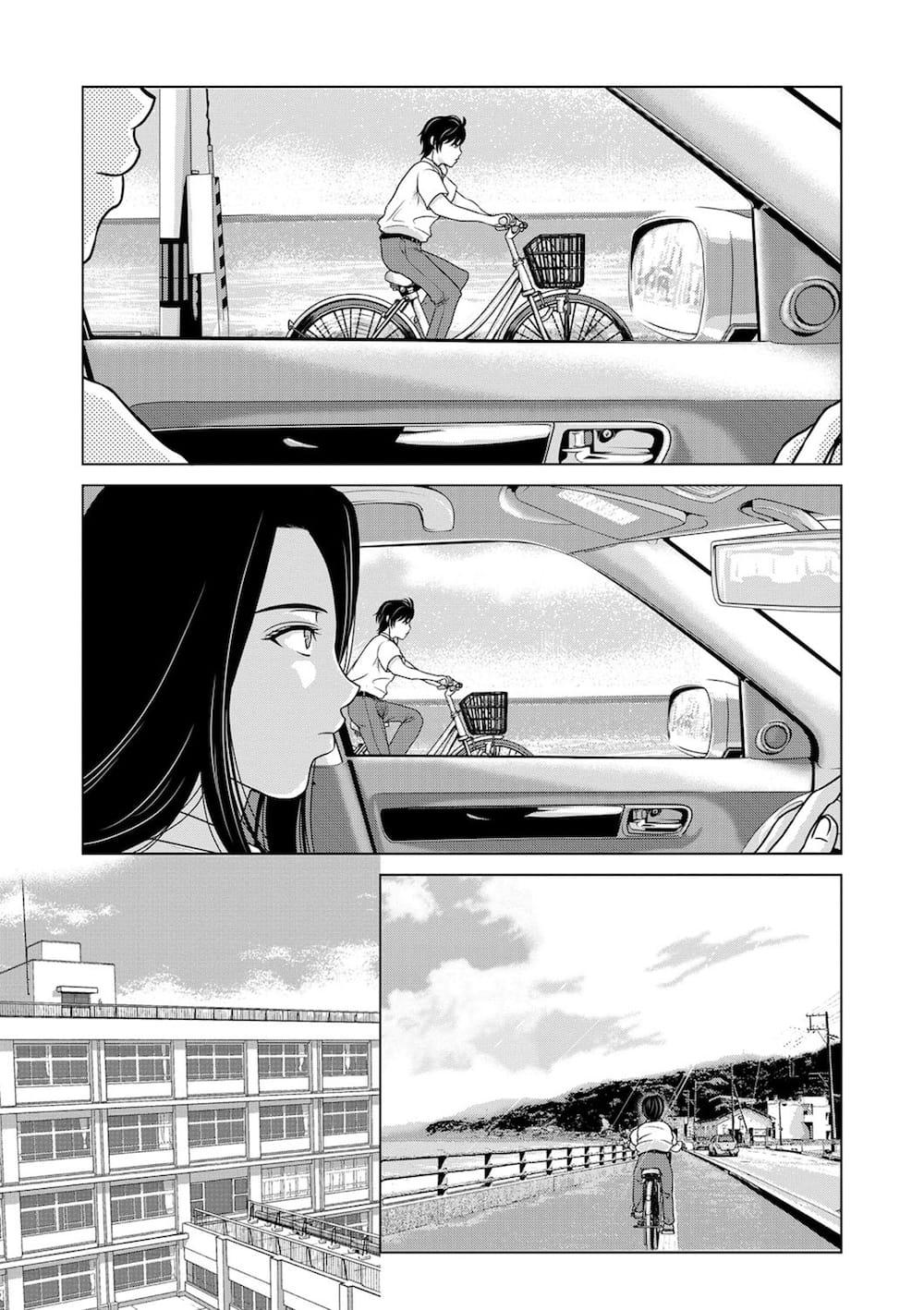 【長編エロ漫画・第1話】夜の海…浜辺!激しくカーセックスするカップル!揺れる車を横目に一人たたずむ女性!海から上がってくる外腹斜筋がキレイな男の子!【横山ミチル】