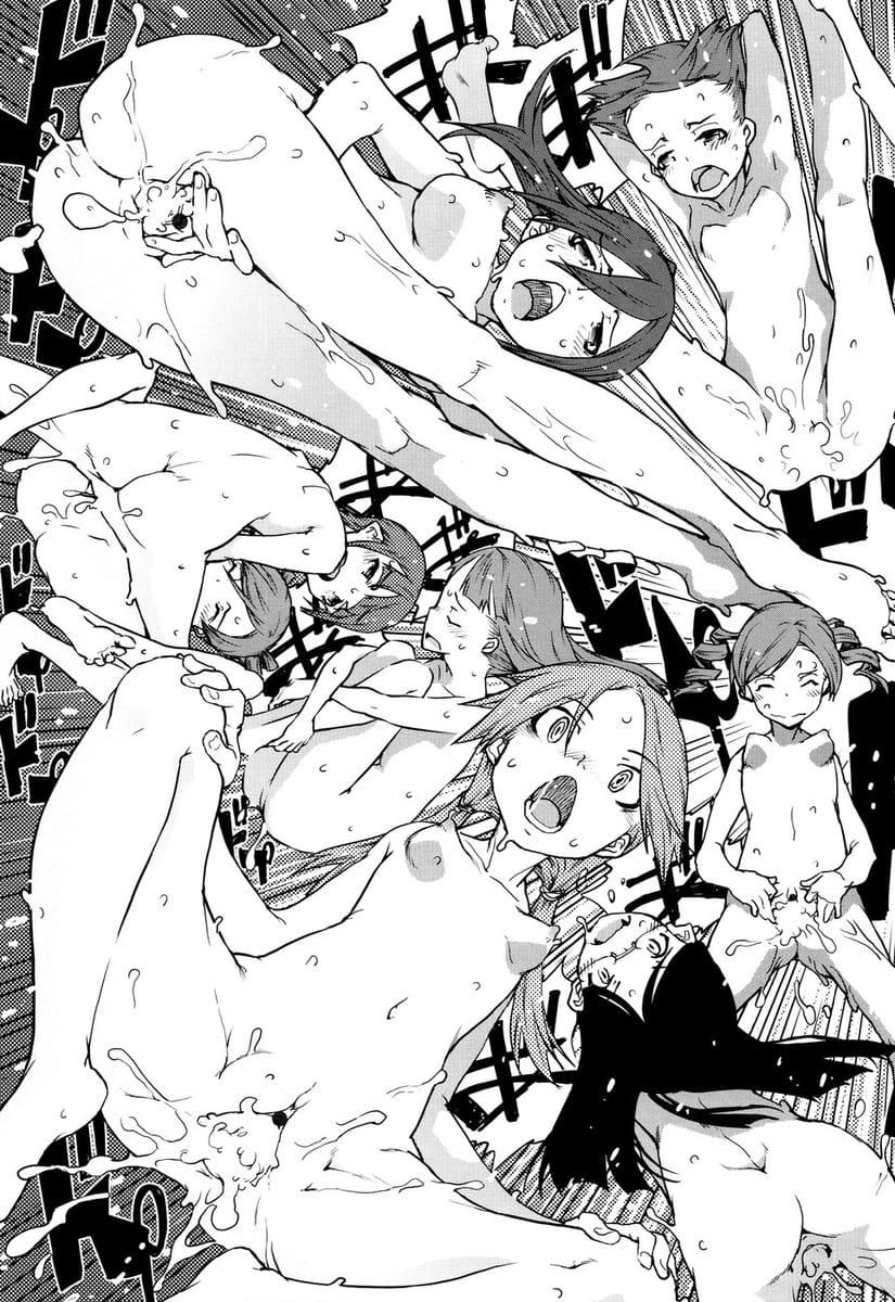 【長編エロ漫画・第6話】銀の銃弾で倒れる人狼先生!救ったのは教え子JSたち!童貞だったMATAGI達を誘惑!ザーメンと力を搾り取るまで生ハメSEX!【鈴木狂太郎】