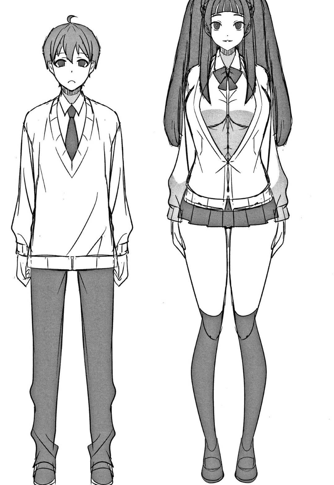 【エロ漫画】低身長彼氏を学校内で誘惑する巨乳高身長JK彼女…彼氏の顔を巨乳で挟みながら誘惑する!【景山玄都】